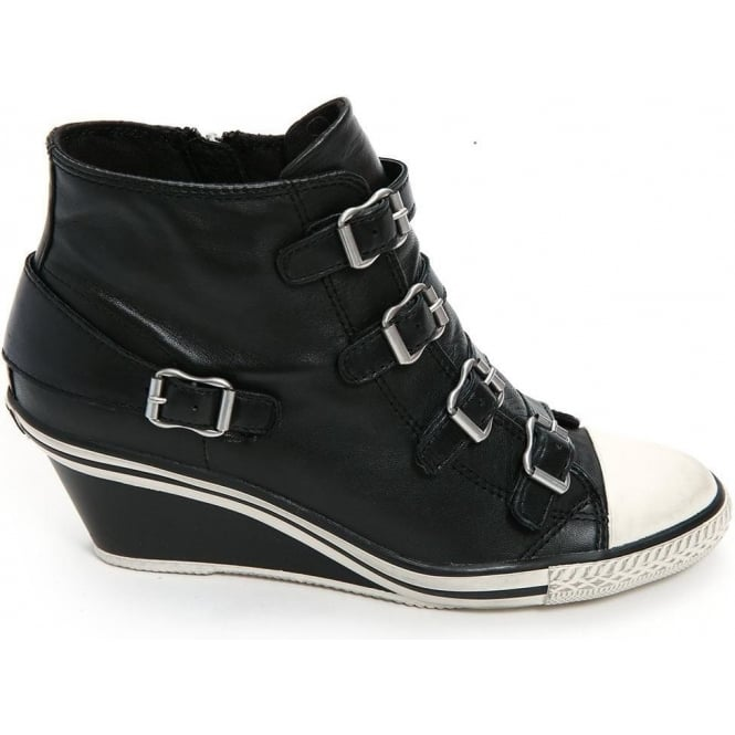 d1298ee907f Genial Nappawax Leather Mid-Wedge Trainer