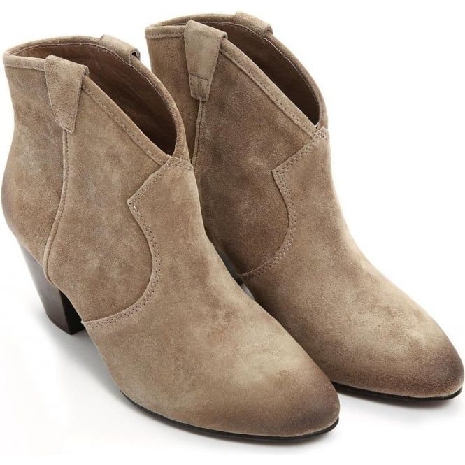Buy Jalouse Calf Suede Mid Heel Ankle