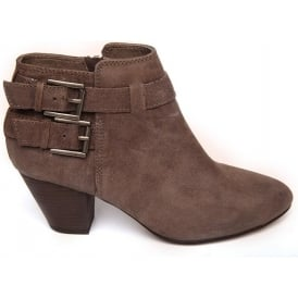 Jason Mid-Heel Leather Ankle Boot