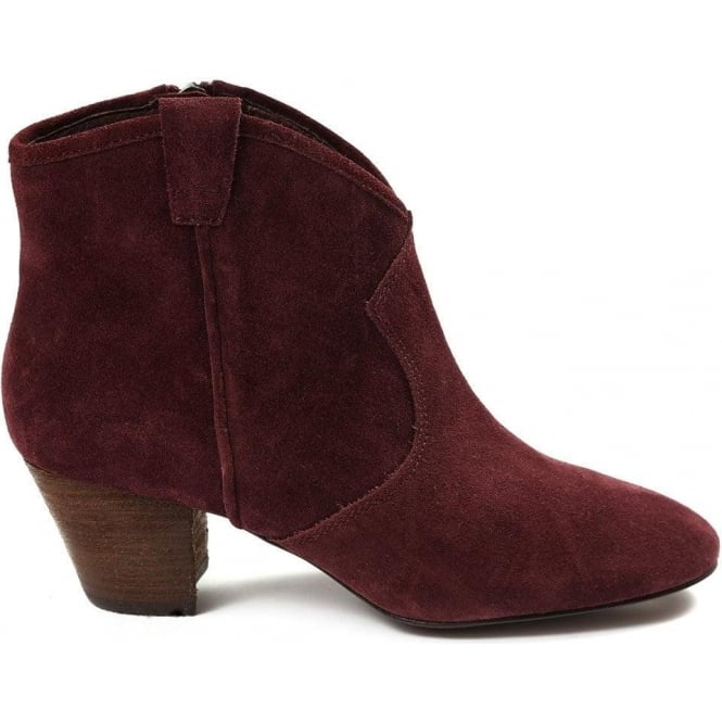 7eee548283e1d Spiral Calf Suede Western Style Ankle Boot