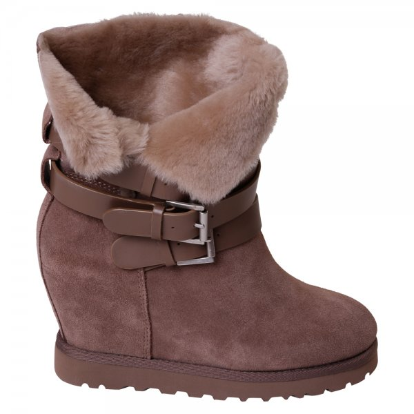 buy ash footwear yes fleece lined wedge ankle boot ash