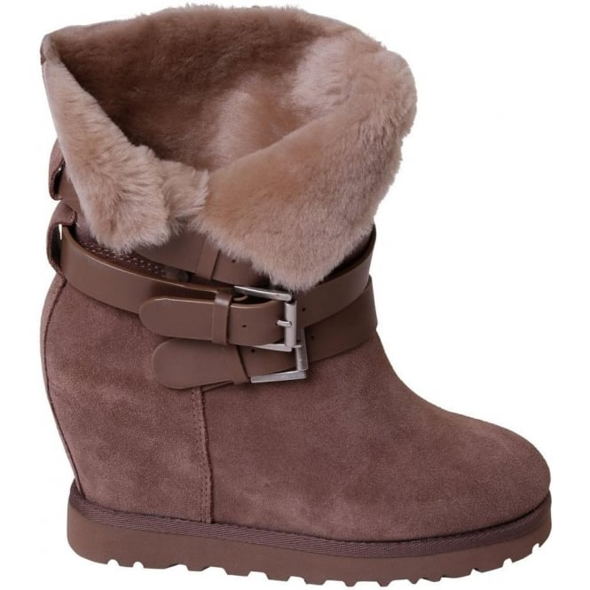 professional design 50-70%off 100% high quality Ash Footwear Yes Fleece Lined Wedge Ankle Buckle Boot (Taupe)