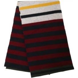 Felted Striped Scarf, Navy