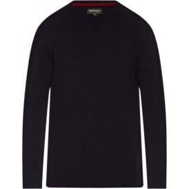 Harrow V-Neck Sweater, Navy