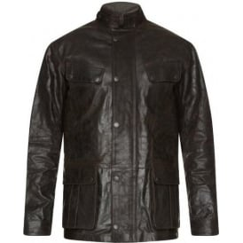 Hurricane Leather Jacket, Brown