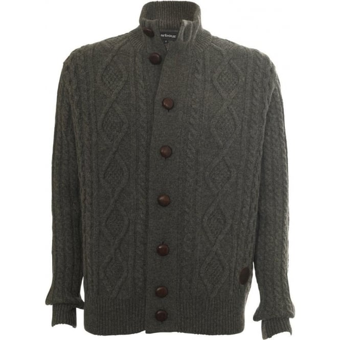 Barbour Kirkham Cable Button Through Cardigan