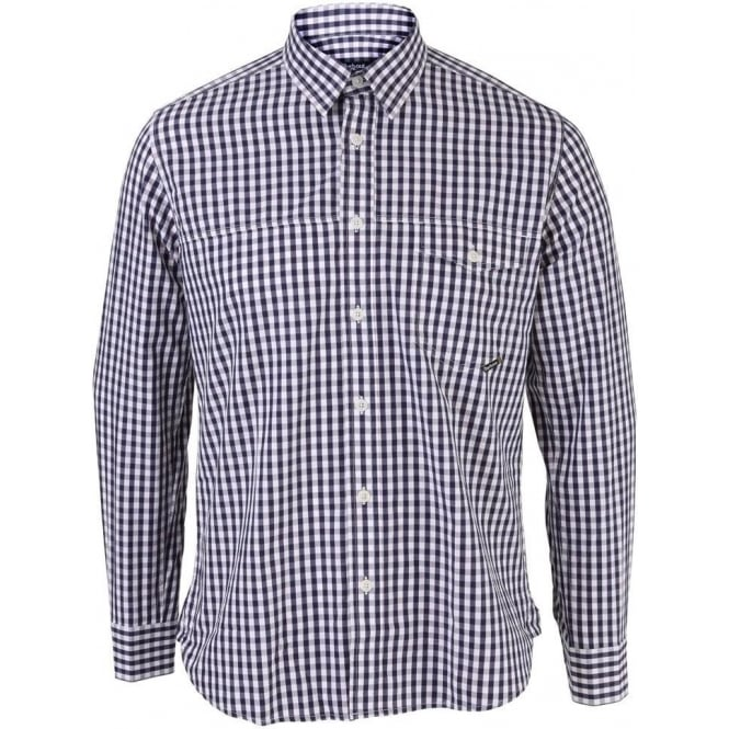 Barbour Mens Adler Gingham Long Sleeve Shirt