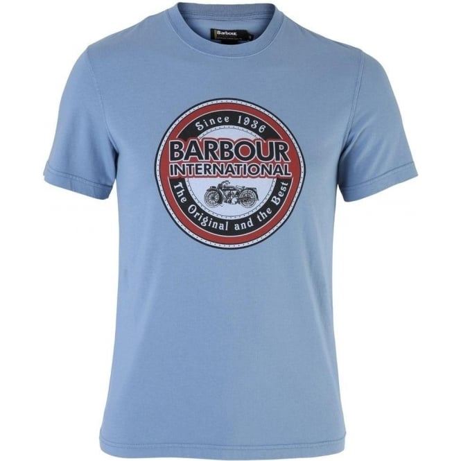 Barbour Mens International Vintage Biker Tee