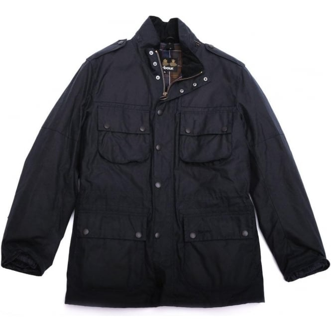 Barbour Waxed Field Marshall Jacket, Navy