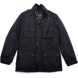 Waxed Field Marshall Jacket, Navy