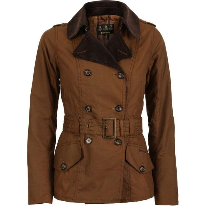 Barbour Womens Elmgate Trench, Bark