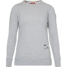Marine Crew Neck, Light Grey Marl