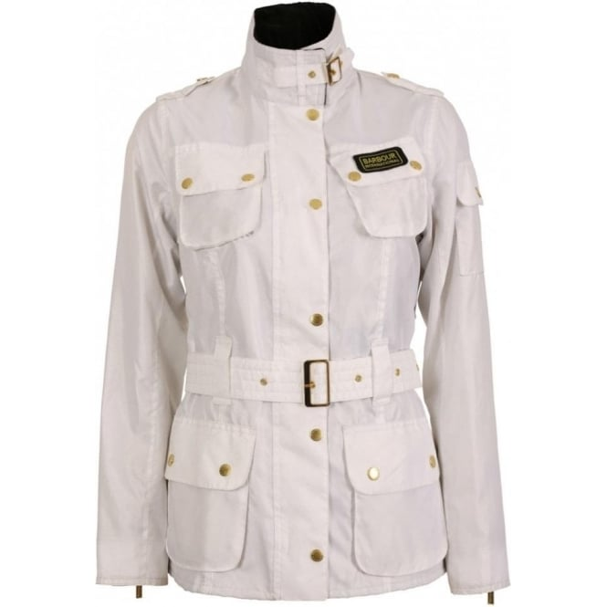 White Barbour International Jacket