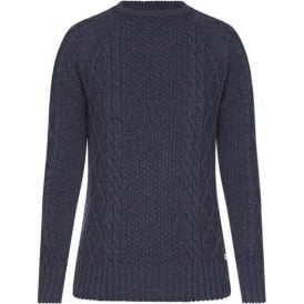 Verity Cable Knit, Dress Blue