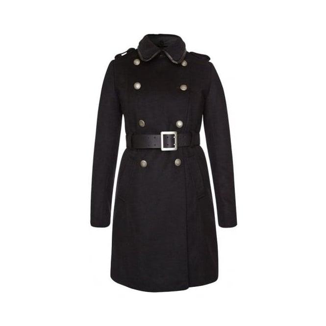 klassisk passform köp billigt super billigt Buy Barbour Womens Wool/Cashmere Belted Skipper Coat   Fussynation.com