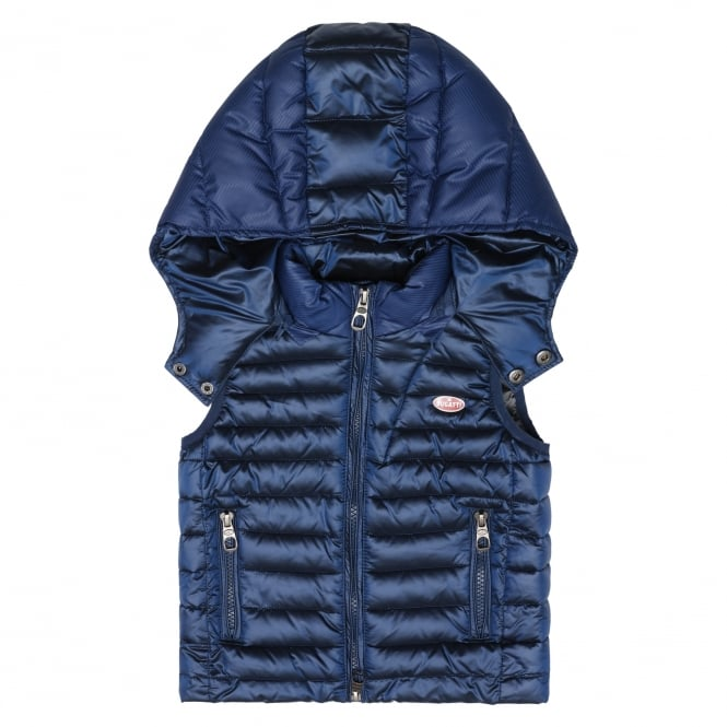Bugatti Kids Hooded Patrese Gilet