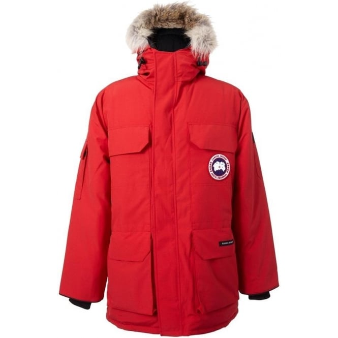 Mens Expedition Parka Jacket Red