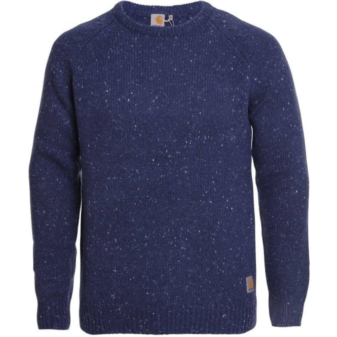 Carhartt Crew Neck Anglistic Sweater (Blue Heather)