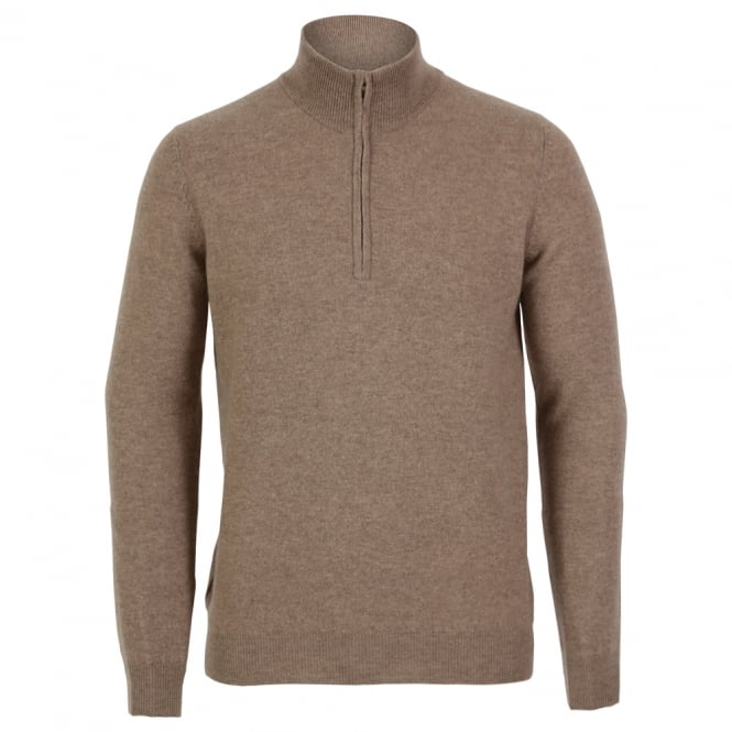 Cashmere Men's Half Zip Sweater