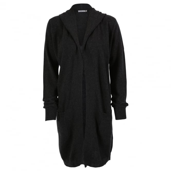 Cashmere Penny Hooded Longline Cardigan