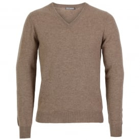 Cashmere V- Neck Sweater
