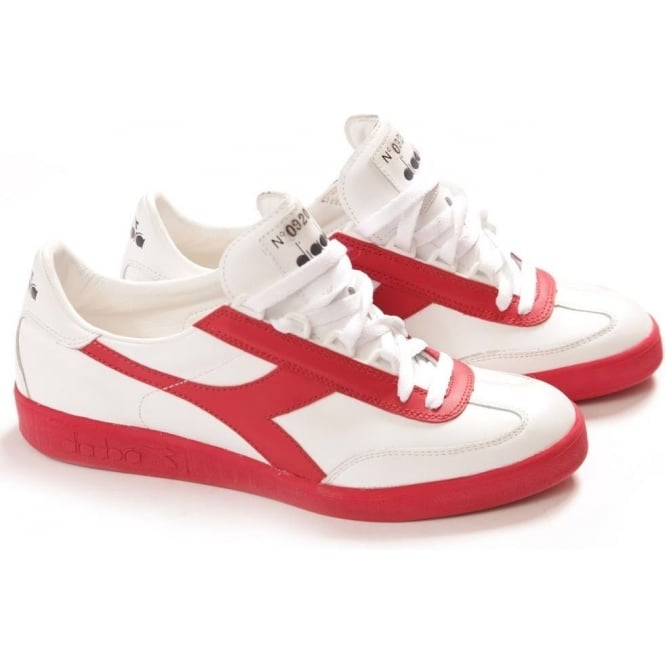 running shoes favorable price most fashionable Diadora Heritage Borg Originals 1976 Heritage Collection Tennis Shoes (Red  White) - Limited Edition