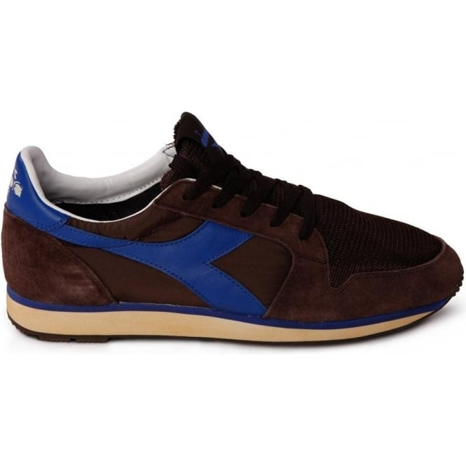 Diadora Heritage Ed Moses The Queen 70 Trainers (Brown)