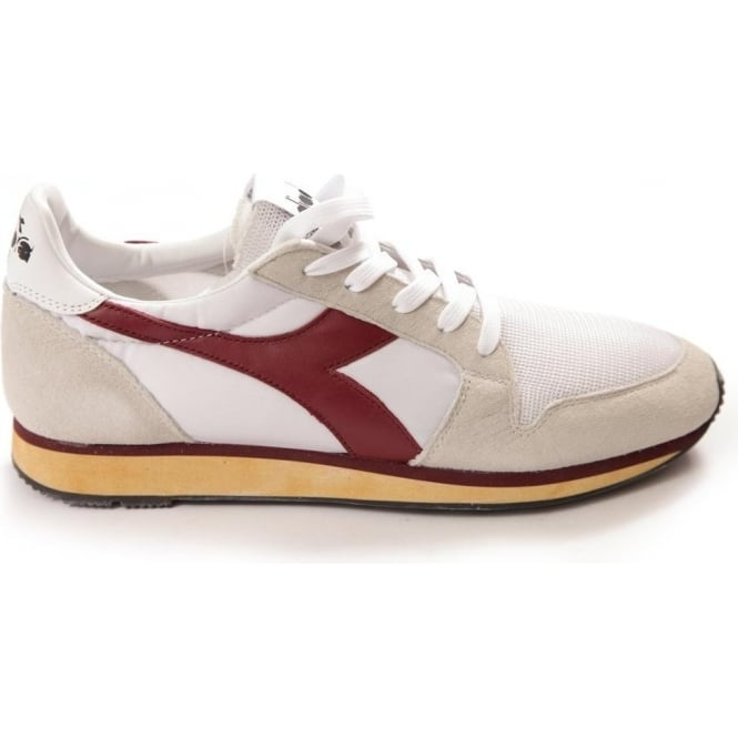 Diadora Heritage Ed Moses The Queen 70 Trainers (Red & White)