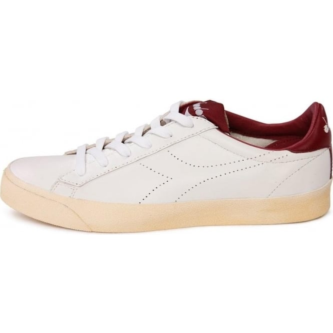 Diadora Heritage Tennis 270 Low Trainers (White Red)