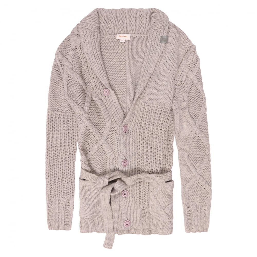 e4b44dee7b Diesel K-Caoba Chunky Cable Knit Cardigan