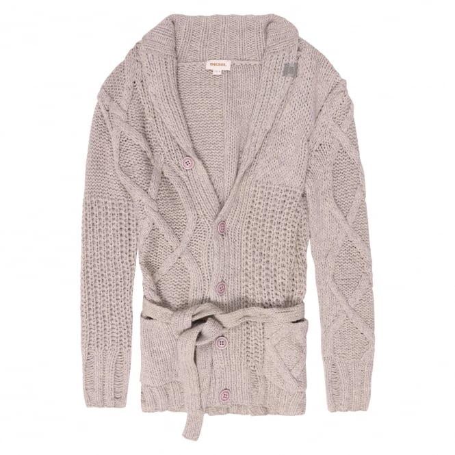 Diesel K-Caoba Chunky Cable Knit Cardigan