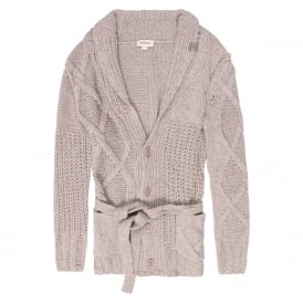 K-Caoba Chunky Cable Knit Cardigan