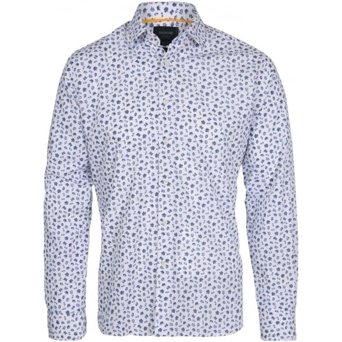 Duchamp of London Chess Print Shirt, Colour 123