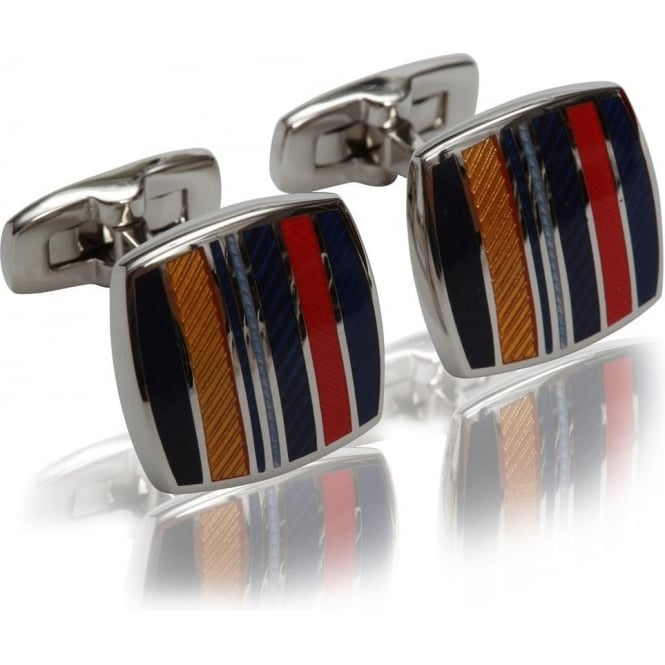 Duchamp of London Highway Stripe Cufflinks