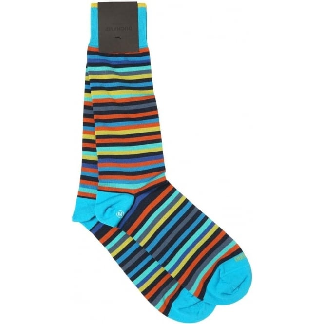 Duchamp of London Platinum Stripe Sock, Klein