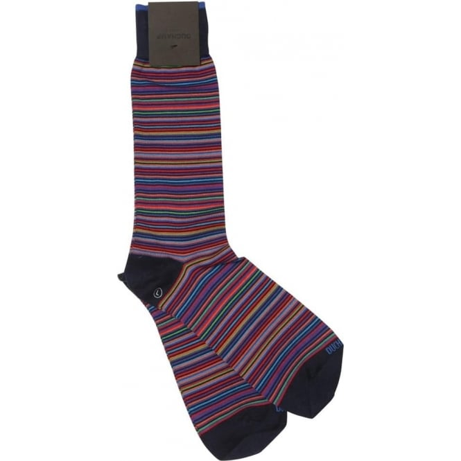 Duchamp of London Platinum Stripe Sock