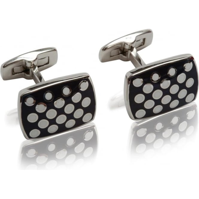 Duchamp of London Polka Spot Cufflinks, Colour 109