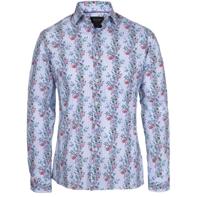Duchamp of London Poppy Delight Print Shirt, Colour 123