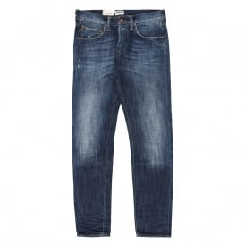 ED-55 Relaxed Tapered- Dark Blue Denim Blue - G10