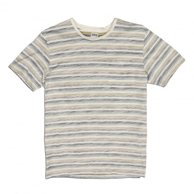 Edwin Denim Marvin Allover Striped T-Shirt