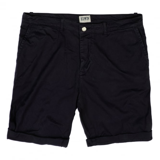 Edwin Denim Rail Bermuda Shorts, Blue Garment Dyed