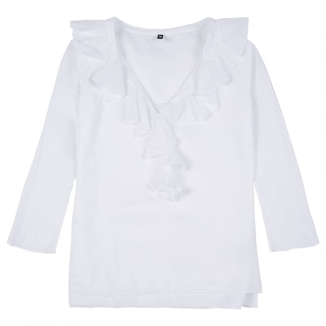 European Culture Frilly Cotton Top