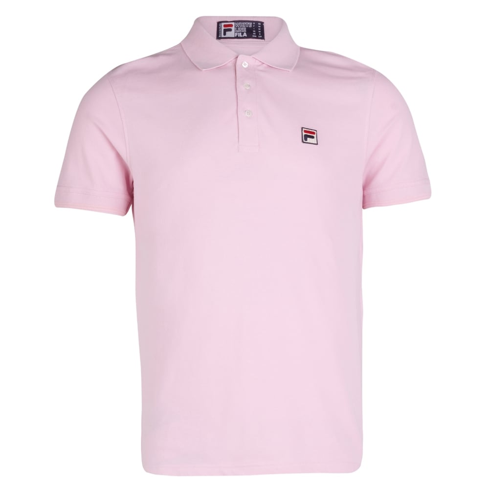 42794dde Fila Vintage Short Sleeve Polo Shirt, Panther Pink| Fussynation.com
