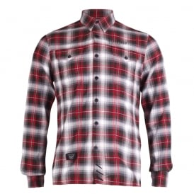 Long Sleeve Check Rough Shirt