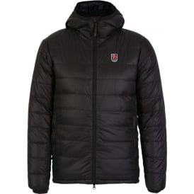 Hooded Pak Down Jacket, Black