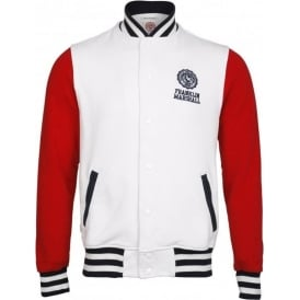 Long Sleeve College Fleece American Jacket (White)
