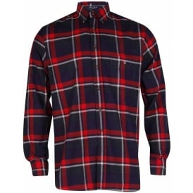 Maine Twill Check Shirt - Deep Russet
