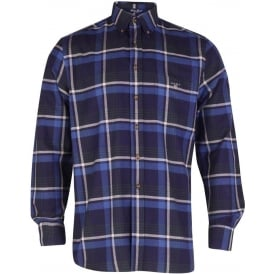 Maine Twill Check Shirt - Ocean Blue