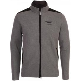 Aston Martin Racing, AMR Full Zip Merino Cardigan with Packed Hood, Grey