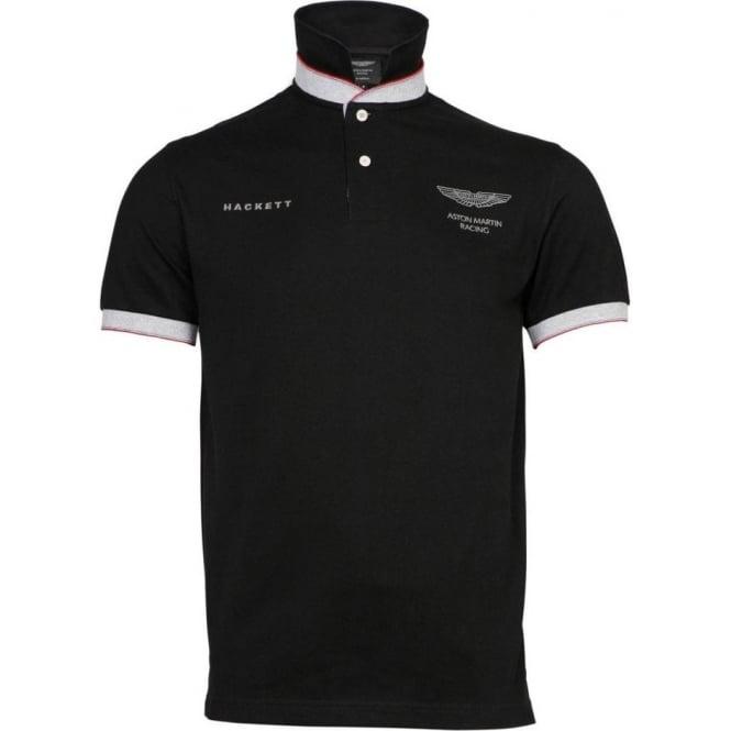 Buy Aston Martin Racing Polo Shirt Black Hackett Hackett Fussy - Aston martin shirt